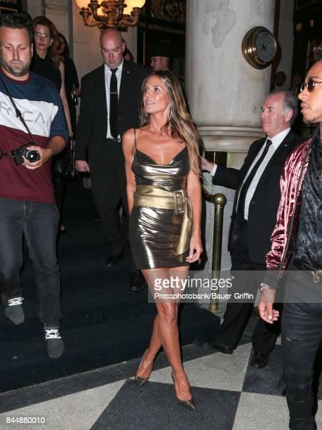 Heidi Klum is seen attending Harper's BAZAAR Celebration of 'ICONS By Carine Roitfeld' at The Plaza Hotel on September 08 2017 in New York City
