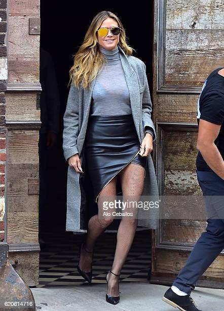 Heidi Klum is seen in the West Village on November 2 2016 in New York City