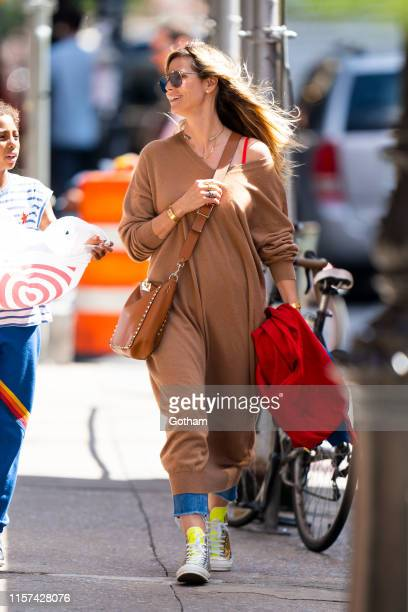 Heidi Klum is seen in Tribeca on June 21, 2019 in New York City.