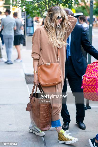 Heidi Klum is seen in Tribeca on June 21 2019 in New York City