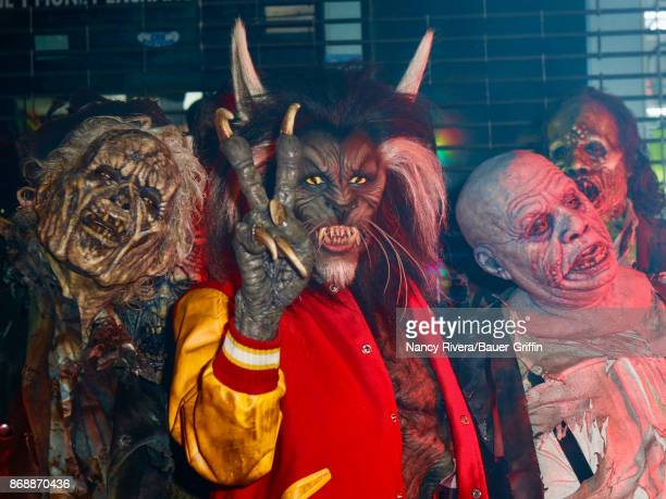 Heidi Klum is seen in werewolf costume for her Halloween bash on October 31 2017 in New York City