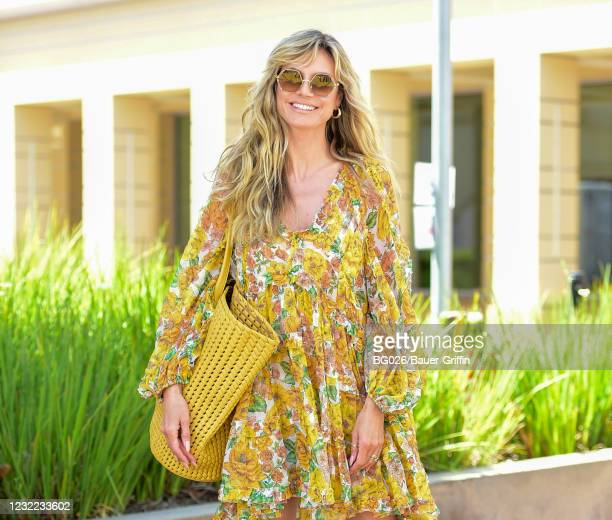 Heidi Klum is seen on April 10, 2021 in Los Angeles, California.