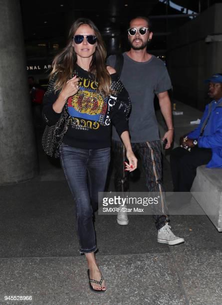 Heidi Klum is seen on April 12 2018 in Los Angeles CA