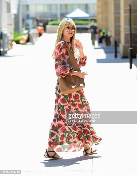 Heidi Klum is seen on April 18, 2021 in Los Angeles, California.