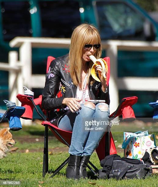 Heidi Klum is seen on February 08 2014 in Los Angeles California