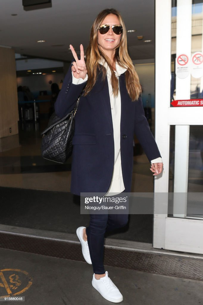 Heidi Klum is seen on February 08, 2018 in Los Angeles, California.