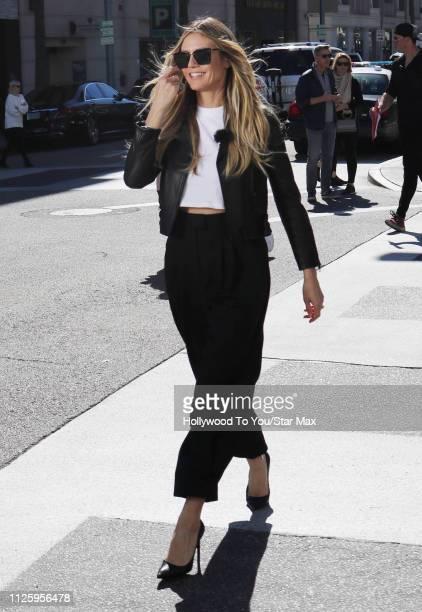 Heidi Klum is seen on February 19 2019 in Los Angeles CA