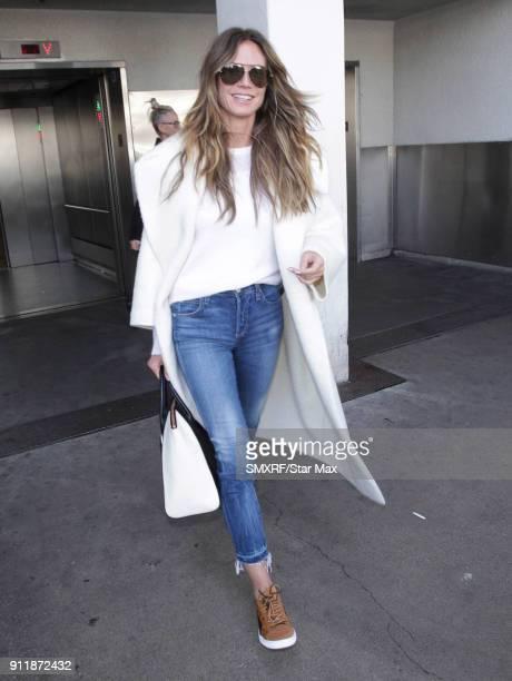 Heidi Klum is seen on January 29 2018 in Los Angeles CA