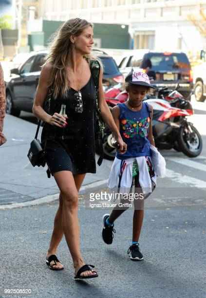 Heidi Klum is seen on July 05 2018 in New York City