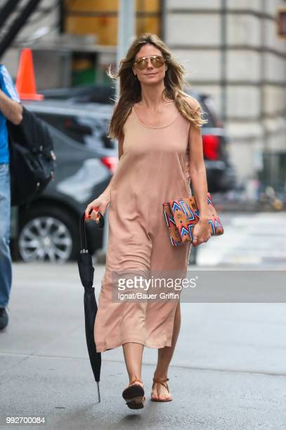 Heidi Klum is seen on July 06 2018 in New York City