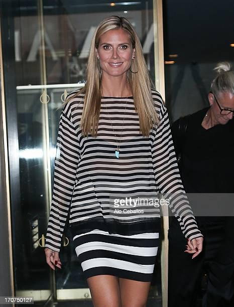 Heidi Klum is seen on June 17 2013 in New York City