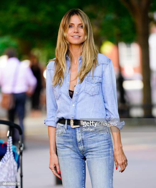 Heidi Klum is seen on June 26, 2018 in New York City.