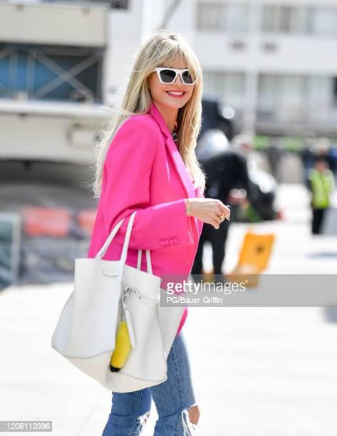 Heidi Klum is seen on March 08 2020 in Los Angeles California