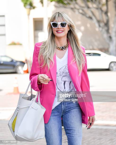 Heidi Klum is seen on March 08 2020 in Los Angeles California