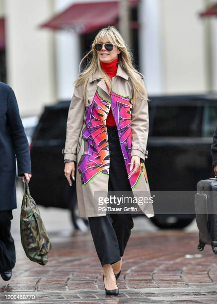 Heidi Klum is seen on March 10, 2020 in Los Angeles, California.