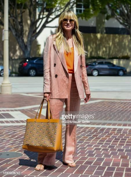 Heidi Klum is seen on March 30, 2021 in Los Angeles, California.