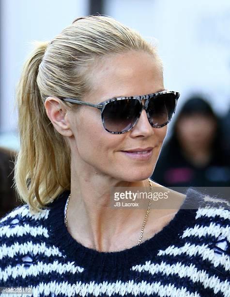 Heidi Klum is seen on November 21 2015 in Los Angeles California