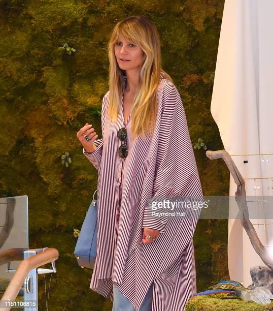 Heidi Klum is seen shopping in Soho on June 20 2019 in New York City