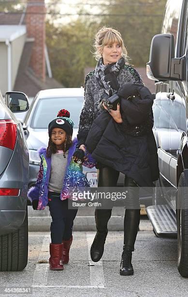 Heidi Klum is seen taking her daughter Lou Samuel iceskating on December 08 2013 in Los Angeles California