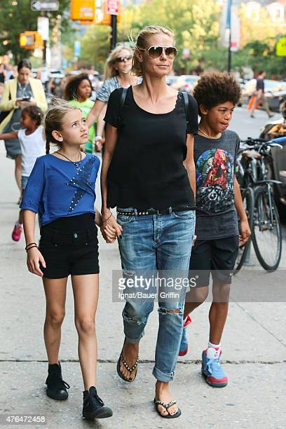 60 Hochwertige Heidi Klum Kinder Bilder Und Fotos Getty Images