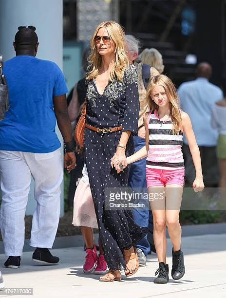 Heidi Klum is seen with her children Leni Samuel and Lou Samuel on June 11, 2015 in New York City.
