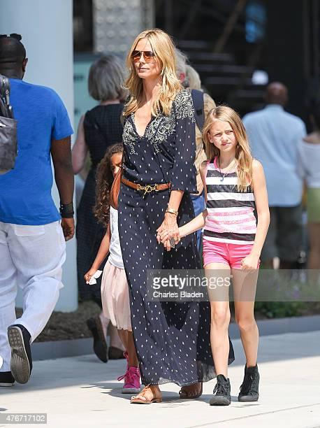 Heidi Klum is seen with her children Leni Samuel and Lou Samuel on June 11 2015 in New York City