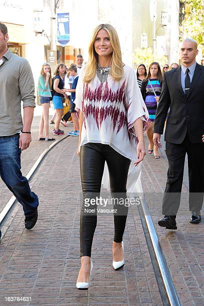 Heidi Klum is sighted at the Grove on March 14 2013 in Los Angeles California