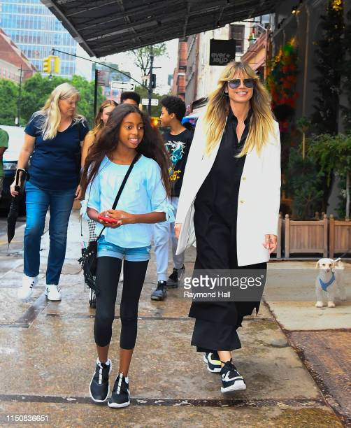Heidi Klum, Johan Samuel, Helene Klum, Henry Samuel, Lou Sulola Samuel are seen on June 19, 2019 in New York City.