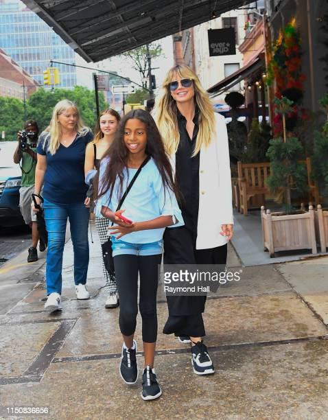 Heidi Klum Johan Samuel Helene Klum Henry Samuel Lou Sulola Samuel are seen on June 19 2019 in New York City