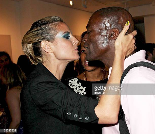 Heidi Klum Kellis and Seal attend 'Rankin's Rubbish' photographic exhibition opening night reception at Rankin Gallery on May 3 2011 in Los Angeles...