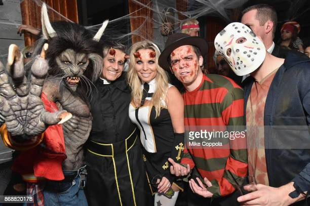 Heidi Klum Kevin Mazur Jennifer Mazur and Zach Mazur attend Heidi Klum's 18th Annual Halloween Party presented by Party City and SVEDKA Vodka at...