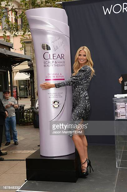 Heidi Klum kicks off the Right End Hair Revolution at The Grove on May 1 2013 in Los Angeles California
