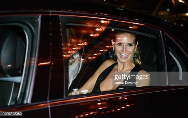 Heidi Klum leaves Harper's BAZAAR ICONS at The Plaza Hotel on September 7, 2018 in New York City.