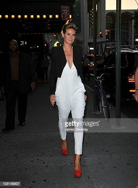 Heidi Klum leaves the Project Runway season eight premiere at the Empire Hotel on July 28 2010 in New York City