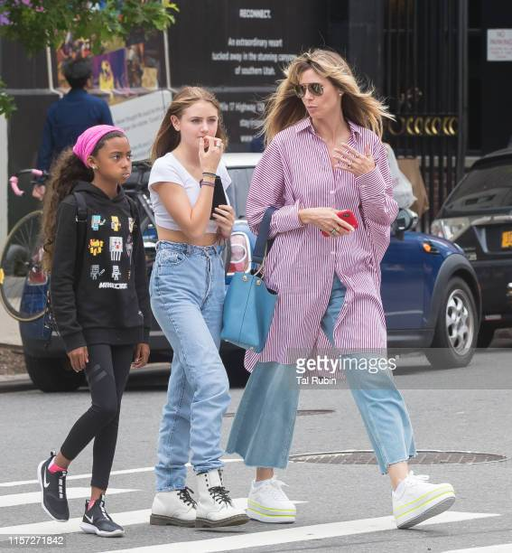 Heidi Klum, Lou Samuel and Helene Klum are seen on June 20, 2019 in New York City.