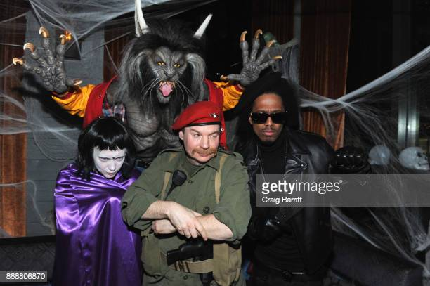 Heidi Klum Nick Cannon and Mike Myers attend Heidi Klum's 18th Annual Halloween Party sponsored by Party City and SVEDKA Vodka at Magic Hour at Moxy...