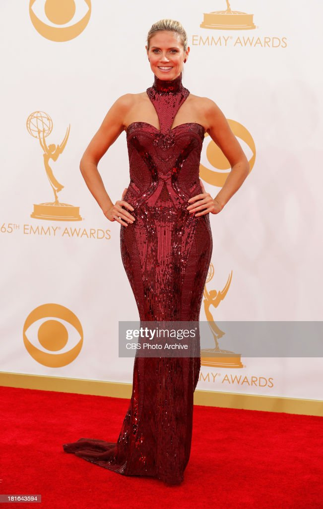 Heidi Klum on the Red Carpet for the 65th Primetime Emmy Awards, which will be broadcast live across the country 8:00-11:00 PM ET/ 5:00-8:00 PM PT from NOKIA Theater L.A. LIVE in Los Angeles, Calif., on Sunday, Sept. 22 on the CBS Television Network.