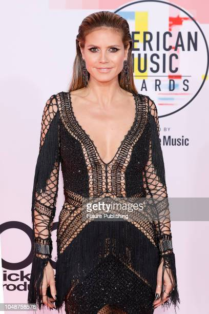 Heidi Klum photographed on the red carpet of the 2018 American Music Awards at the Microsoft Theater on October 9 2018 in Los Angeles USA