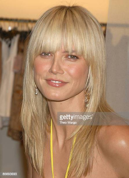 heidi klum mit pony portrait stock fotos und bilder getty images. Black Bedroom Furniture Sets. Home Design Ideas