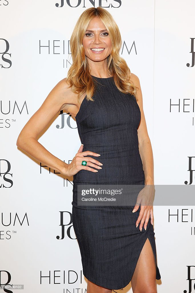 Heidi Klum At David Jones For Heidi Klum Intimates