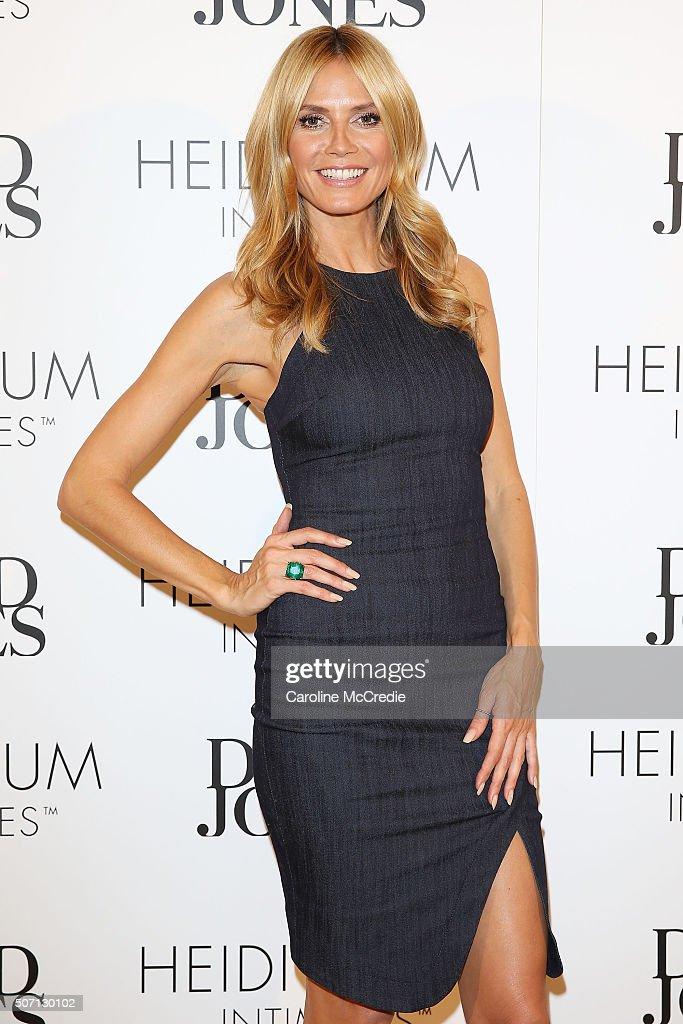 Heidi Klum At David Jones For Heidi Klum Intimates