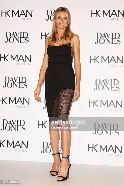 Heidi Klum poses during Heidi Klum Man Launch at David Jones on January 28 2016 in Sydney Australia
