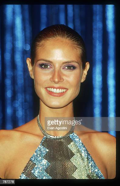 Heidi Klum poses February 9 1999 while promoting the Sports Illustrated Swimsuit Issue in New York City This year's issue features the exact...