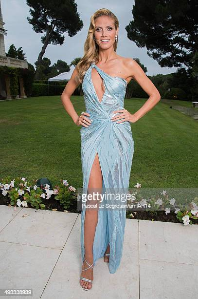 Heidi Klum poses for a portrait at amfAR's 21st Cinema Against AIDS Gala Presented By WORLDVIEW BOLD FILMS And BVLGARI at Hotel du CapEdenRoc on May...