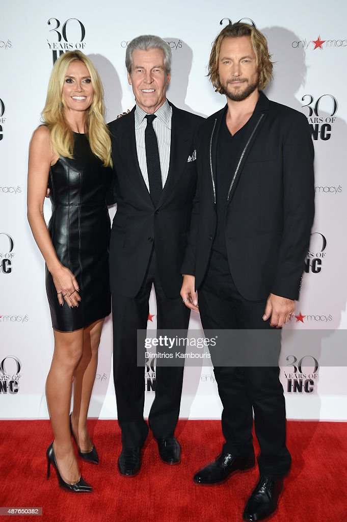 Heidi Klum, President and CEO, Macy's Terry Lundgren and Gabriel Aubry attend Heidi Klum + Gabriel Aubry's celebration of the launch of INC's 30th Anniversary Collection at IAC Building on September 10, 2015 in New York City.