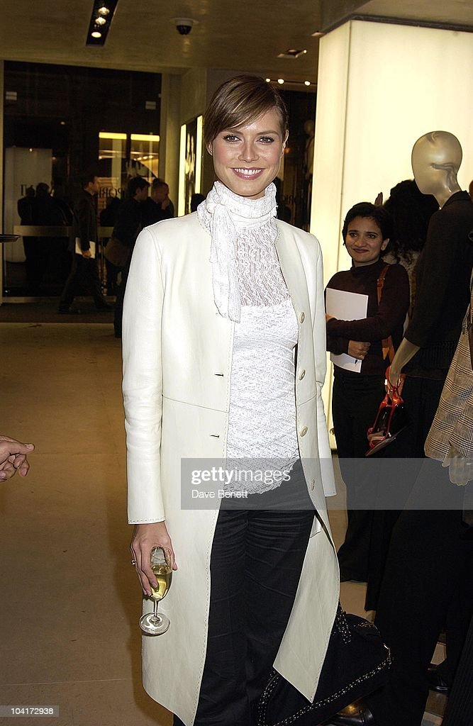 Heidi Klum, Russell Crowe Oscar Nomination Cocktail & Dinner Party, New Giorgio Armani Shop, Bond Street & Supper & Hakkasan, London.