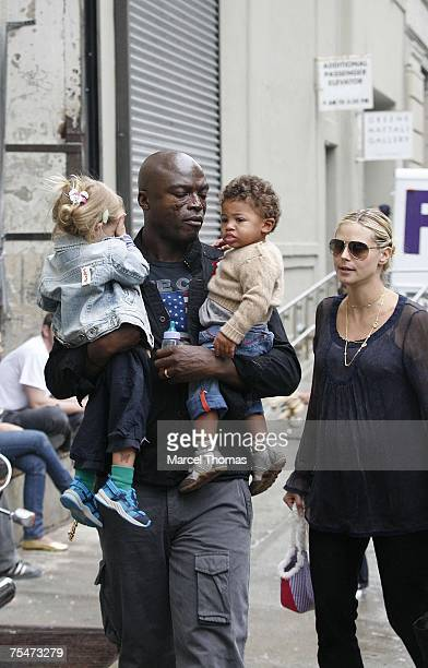 Heidi Klum Seal son Henry and daughter Leni at the Heidi Klum and Seal Sighting with Family in Chelsea September 5 2006 at in New York City New York