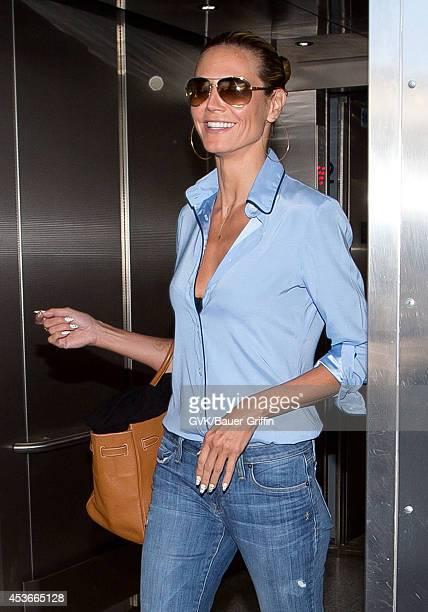 Heidi Klum seen at LAX on August 15 2014 in Los Angeles California