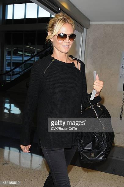Heidi Klum seen at LAX on August 25 2014 in Los Angeles California