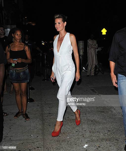 Heidi Klum seen on the streets of Brooklyn on July 28 2010 in New York City